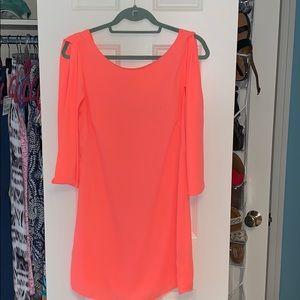 Bright salmon pink ark & co dress
